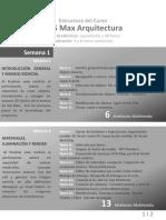 Estructura de Curso 3ds Max Arquitectura 2