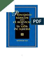 Principios Básicos Para El Servicio en La Vida de Iglesia