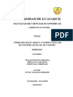 Feriado Bancario y Consecuencias en El Ecuador 2017