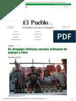 En Arequipa Fabrican Cerveza Artesanal de Papaya y Tuna _ Diario El Pueblo, Noticias y Actualidad Arequipa Perú