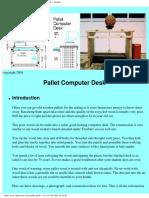 Desk - Wooden Pallet Computer Desk