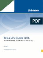 Novedades de Tekla Structures 2016