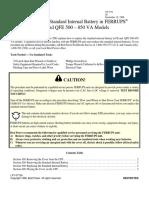 FERRUPS500-850VA Reemplazo de Battery