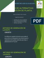 Generación de Alternativas en Distribución de Planta