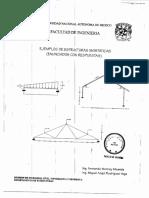 Ejemplos de Estructuras Isostáticas - Enunciados Con Respuestas