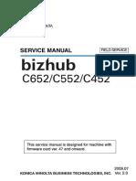 Bizhub C452 C552 C652 Field Service Manual