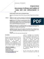 Open Comparative Study of Efficacy and Safety of Ketoconazole Soap and Oral Ketoconazole in Tinea Versicolor