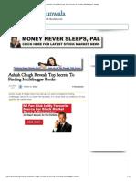 – Ashish Chugh Reveals Top Secrets to Finding Multibagger Stocks