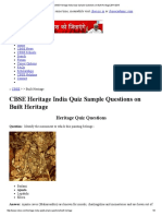 CBSE Heritage India Quiz Sample Questions on Built Heritage 2014-2015