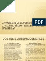 Problemas de La Posesin