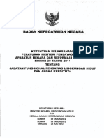 Perbersama Meneg Lh No.9 Tahun 2012 Dan Kepala Bkn No.6 Tahun 2012 Ketentuan Pelaksanaan Permenpan Dan Rb Nomor 39 Tahun 2011 Tentang Jf Pengawas Lingkungan Hidup Dan Ak