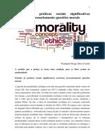 Anne Rawls. Estudos de Práticas Sociais Significativas Envolvem Necessariamente Questões Morais