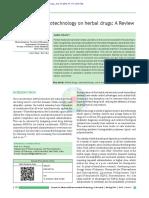 Ansari Et Al 2012 Influence of Nanotechnology on Herbal Drugs