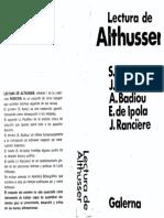 Jacques Rancière, Alain Badiou Lectura de Althusser