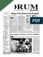 The Forum Gazette Vol. 4 No. 22 December 1-15, 1989