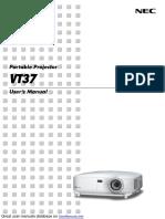 NEC VT37 Projector
