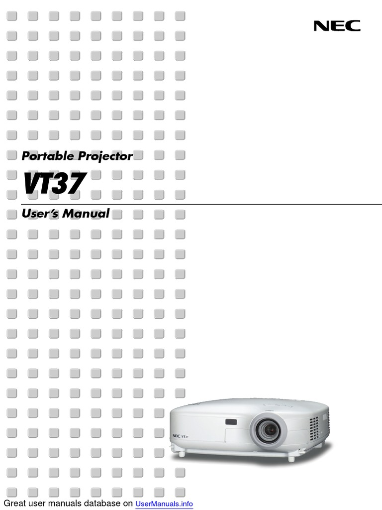 Array - nec vt37 projector   electromagnetic interference   ac power      rh   scribd com