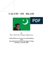 LEE, Francis Nigel. Calvin on Islam