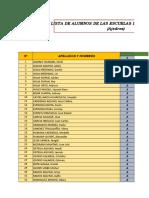 Lista de Alumnos Ajedrez