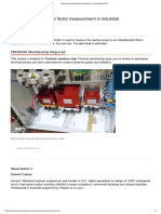 Reactive Power & Power Factor Measurement in Industrial Plant _ EEP
