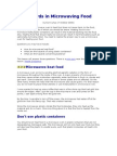 Hazards in Microwaving Food