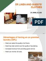 PPT Launder Linen & Guests Clothes 300812
