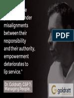 Empowerment Goldratt