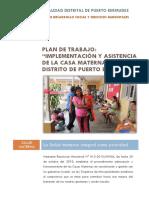 Plan de Trabajo - Casa Materna