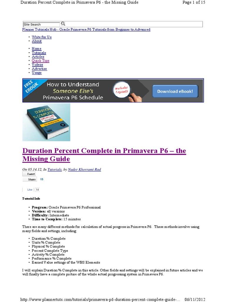 193471711 primavera p6 duration percpdf technology computing baditri Image collections