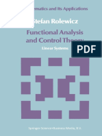 (Mathematics and Its Applications 29) Stefan Rolewicz (Auth.)-Functional Analysis and Control Theory_ Linear Systems-Springer Netherlands (1987)