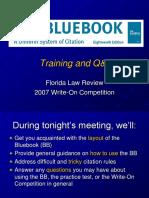 Bluebook Orientation