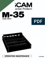 Tascam M-35 Manual