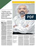 """""""Al Perú le falta talento adecuado para la innovación"""", Sam Pitroda"""