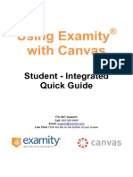 Examity With Canvas Quick Guide