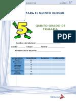 Examen 5°Grado Bloque 5