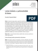 Carmen Miranda e a performatividade da baiana