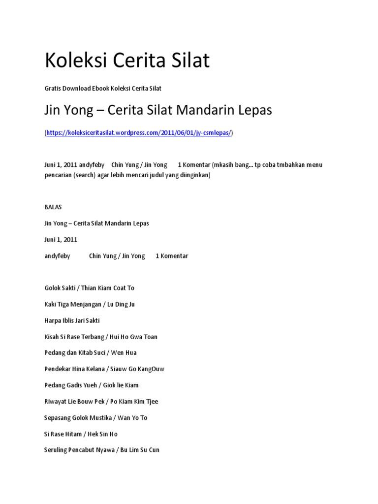 Ebook Cerita Silat Mandarin