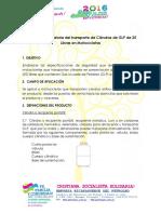 Normativa Traslados Cilindros 2016 Distribuidores Bomberos Policia