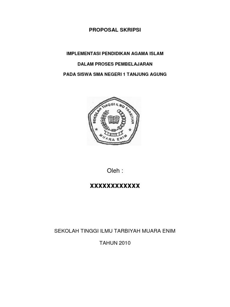 Proposal Skripsi 1 Implementasi Pendidikan Agama Islam Dalam Proses Pembelajaran
