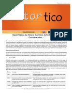 2016 SET-OCT - Especificacion de Motores Electricos de Media Tension