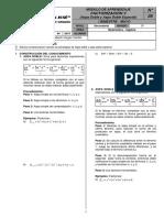 Algebra - Factorización V Aspa Doble - 3° Sec.