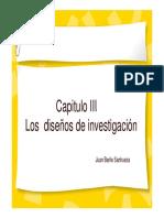Capitulo III Los diseños de la investigacion