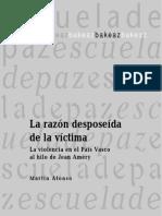 Alonso Martín La Razón Desposeída de La Víctima