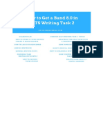 How to Get 8.0 in Writing Task 2