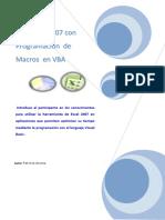 MS Excel Con Programación de Macros en VBA