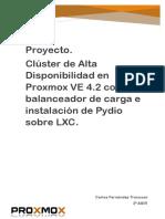Proyecto. Clúster de HA en Proxmox 4