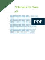 NCERT Solutions for Class 6 Sanskrit