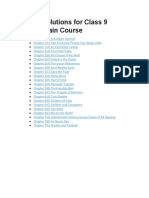 NCERT Solutions for Class 9 English Main Course