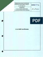 1.5.2 Mill Certificate