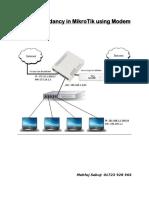 Auto Redundancy Configure in Mikrotik Using MODEM